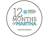 I'm creating for #12MonthsofMartha!