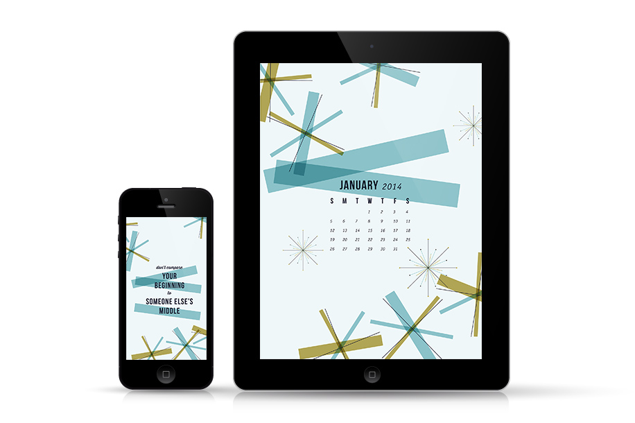 January 2014 Calendar Wallpaper for iPhone and iPad