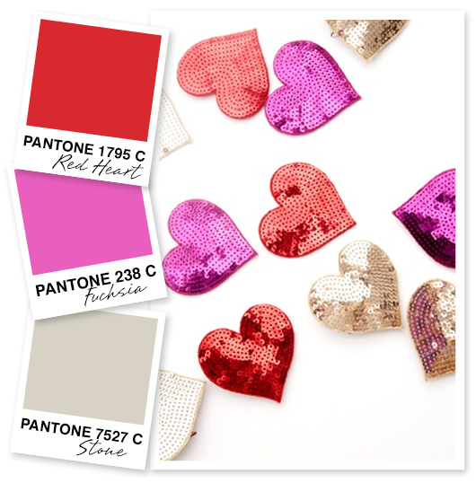 Red, Pink and Beige Color Palette by Sarah Hearts