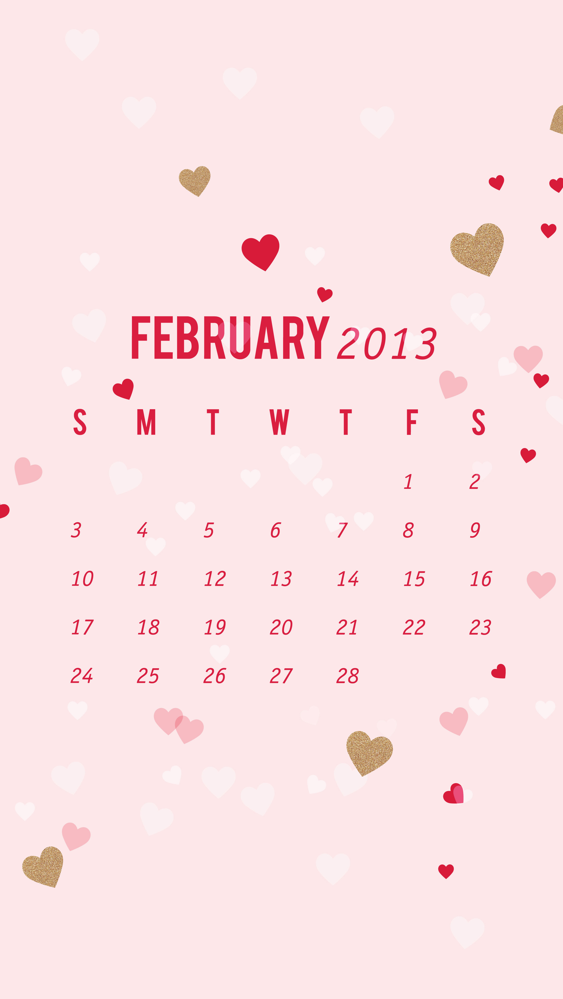 February Calendar Wallpaper Phone : February calendar wallpaper sarah hearts