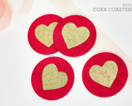 DIY Painted Cork Coasters
