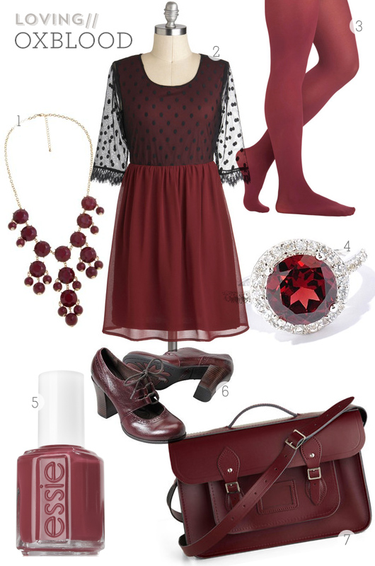 Oxblood Inspiration Board by Sarah Hearts