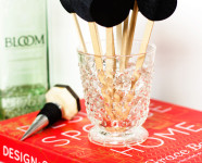 DIY Chalkboard Drink Stirs