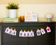 Printable Valentine's Day Garland