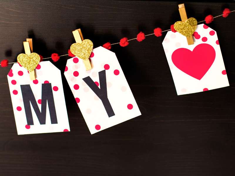 Sarah Hearts - Printable Valentine's Day Garland