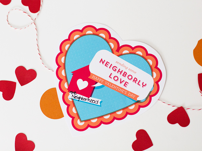 Printable Valentine's for Your Neighbors by Sarah Hearts #letsneighbor