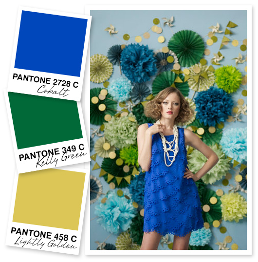 Blue, Green and Gold Color Palette by Sarah Hearts