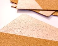 DIY Rose Gold Painted Cork Placemats