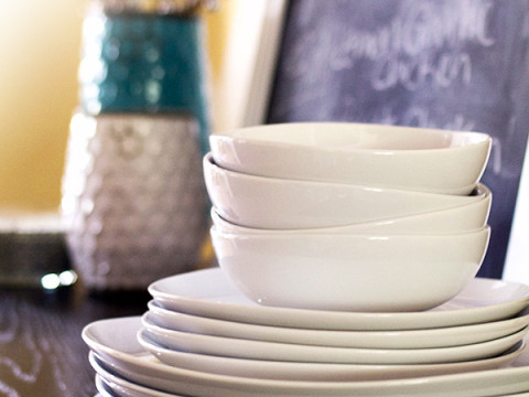 Win It // Organic Dinnerware for Four  #MSNhearts