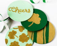 DIY St. Patrick's Day Painted Cork Coasters