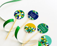 DIY St. Patrick's Day Printable Toothpick Toppers
