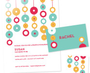 Free Printable Modern Spring Party Invitations