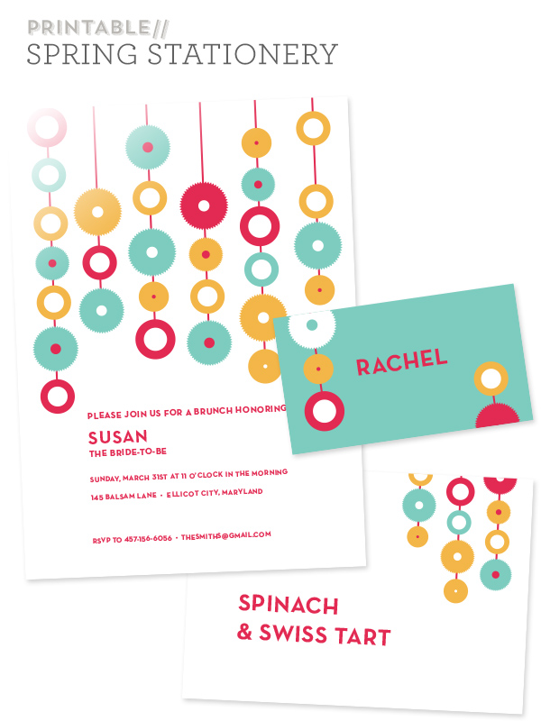 Free Printable Modern Spring Party Invitations - Sarah Hearts