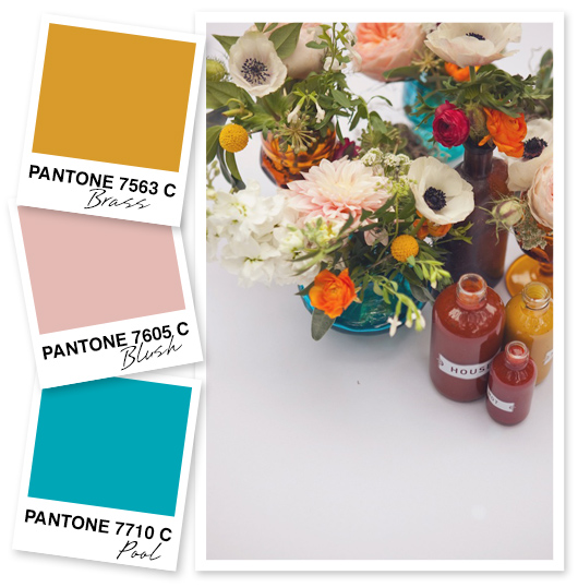 Sarah Hearts | Yellow, Blush Pink and Blue Color Palette