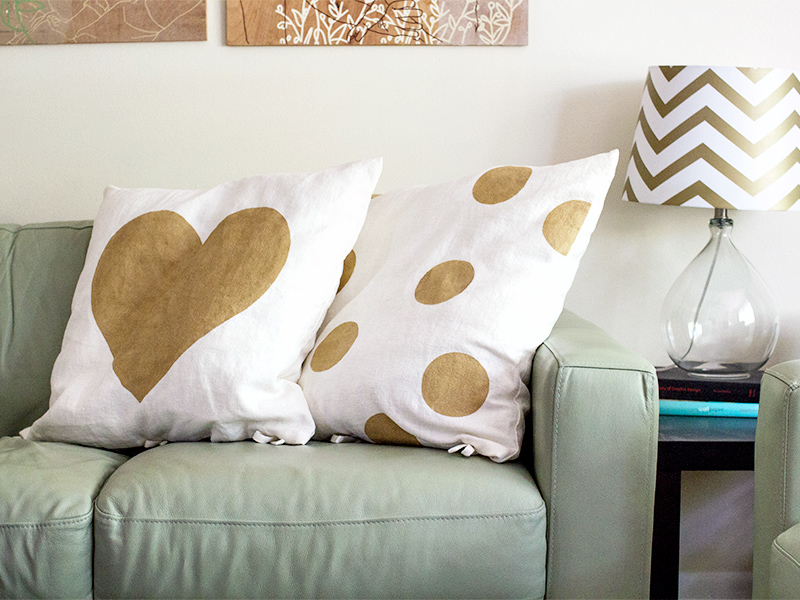 save this for later - Gold Decorative Pillows