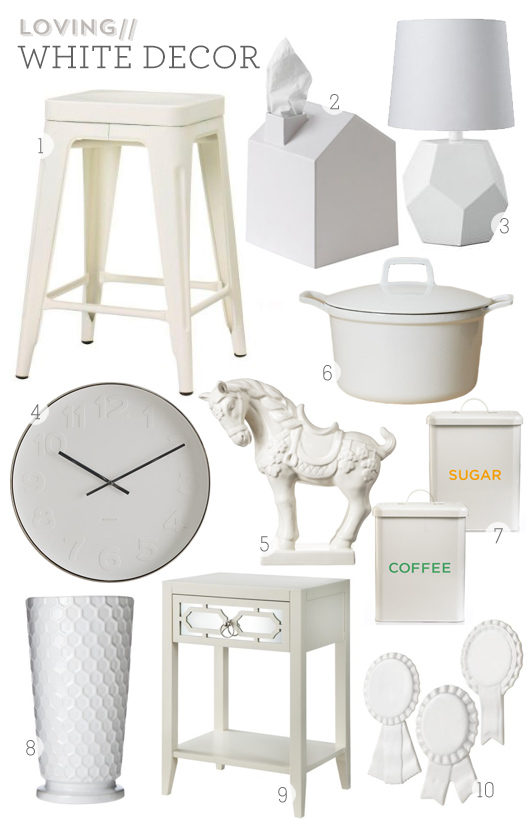 white home decor - sarah hearts