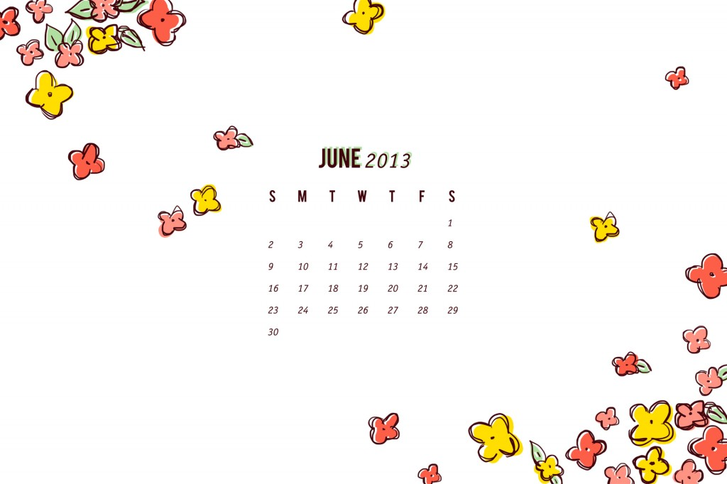 June 2013 Calendar Wallpaper | Sarah Hearts