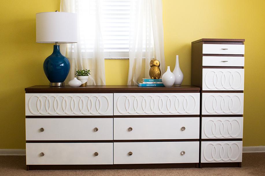 Mid Century Modern DIY Ikea Malm Dresser With Myoverlays.com | Sarah Hearts