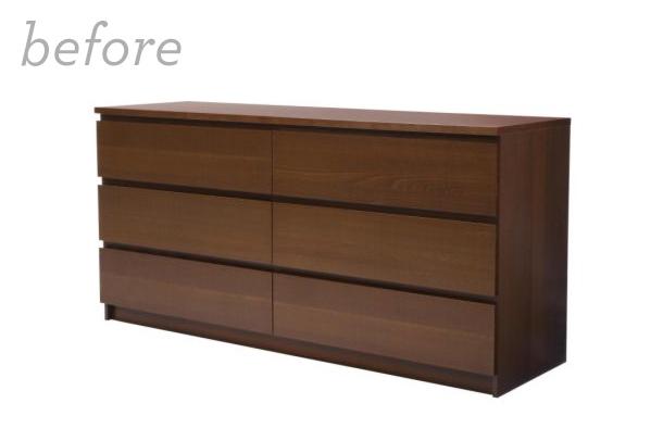 Mid-Century Modern DIY Ikea Malm Dresser with myoverlays.com | Sarah Hearts