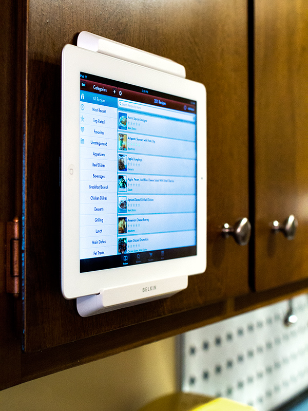 Favorite Find // iPad Cabinet Mount | Sarah Hearts