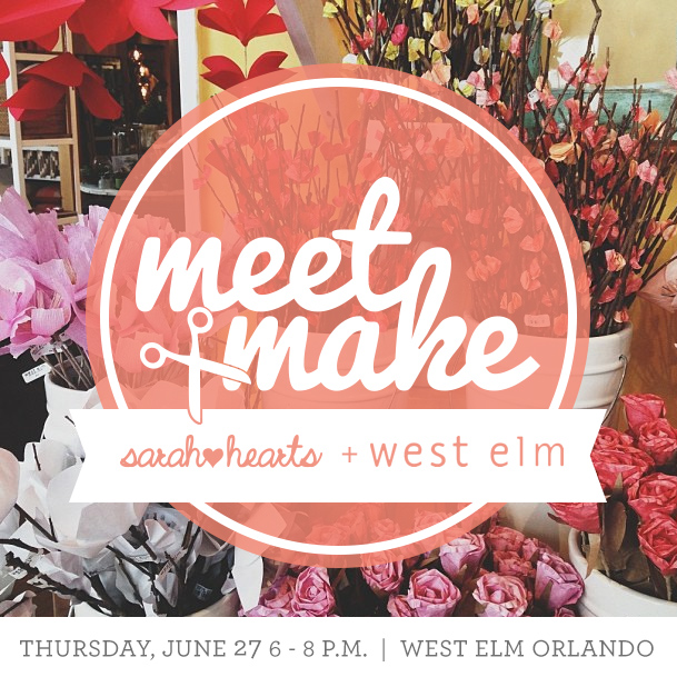 Meet + Make // Craft Party at West Elm Orlando hosted by Sarah Hearts