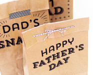 Printable Father's Day Paper Bags