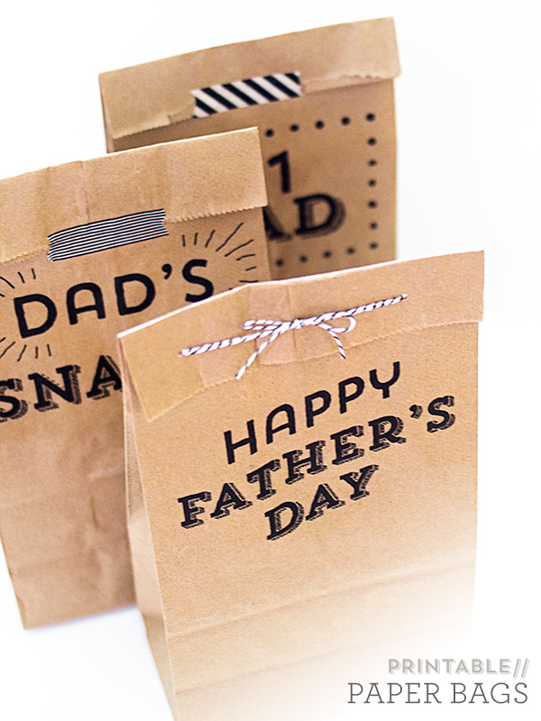 Printable Father's Day Paper Bags | Sarah Hearts
