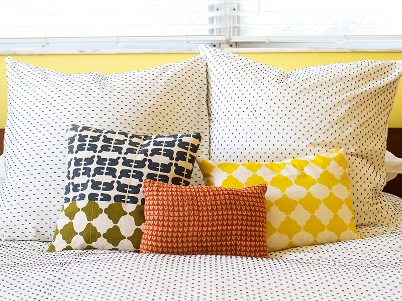 Hand Screen Printed Fabric Pillows | Sarah Hearts