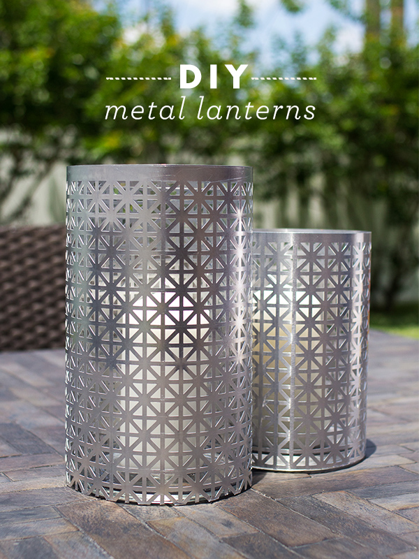 DIY Outdoor Metal Lantern | Sarah Hearts for The Neighborhood