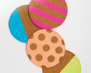 Neon Cork Coasters for Redbook Magazine