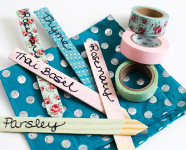 DIY Washi Tape Garden Markers