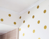 Gold Polka Dot Bathroom Walls
