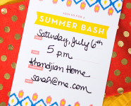 Printable Ikat Summer Party Invitation