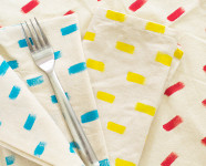 Anthropologie Inspired DIY Napkins