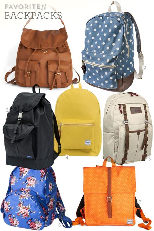 Favorite Backpacks | Sarah Hearts