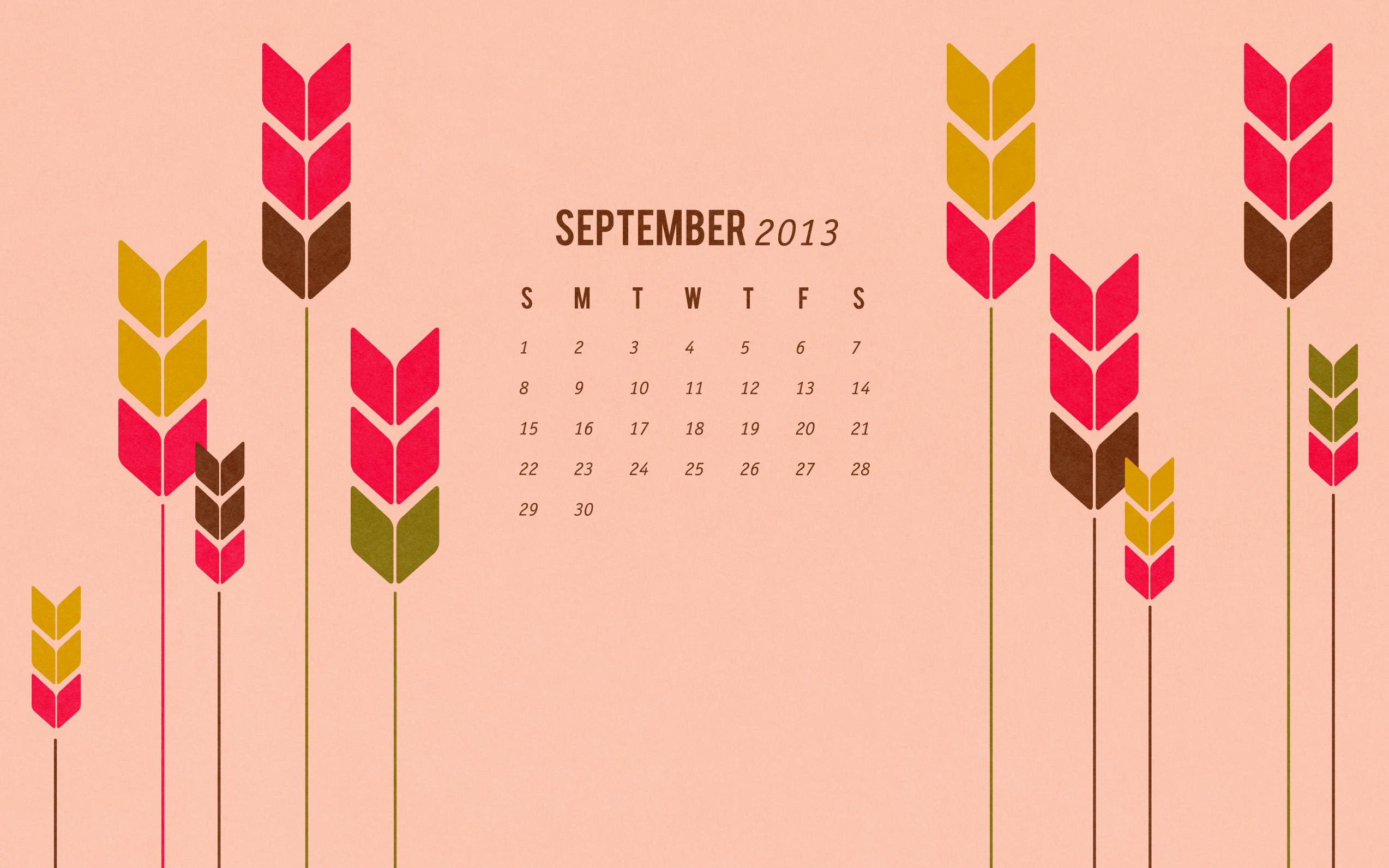 September 2013: September 2013 Calendar Wallpaper