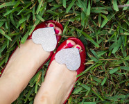 DIY Glitter Shoe Clips