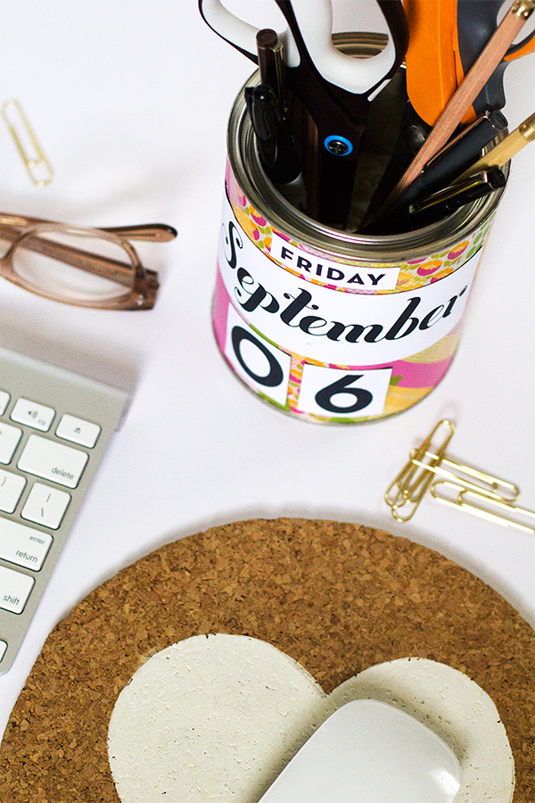 DIY Calendar Pencil Cup | Sarah Hearts