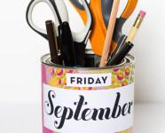 DIY Calendar Pencil Cup