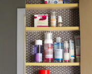 Contact Paper Lined Bathroom Cabinet