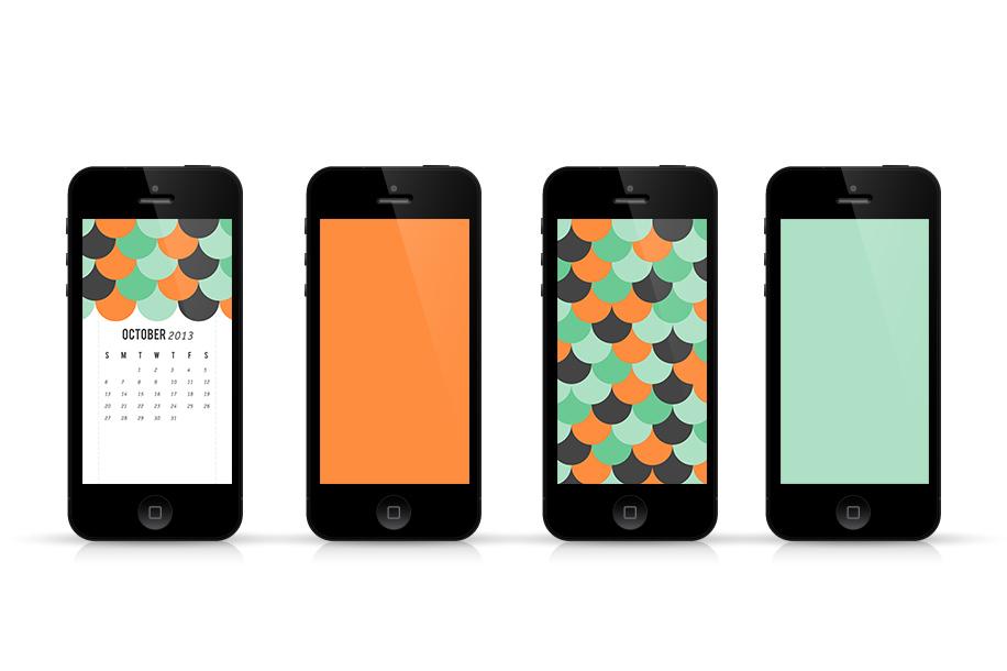 iPhone October 2013 Calendar Wallpapers | Sarah Hearts