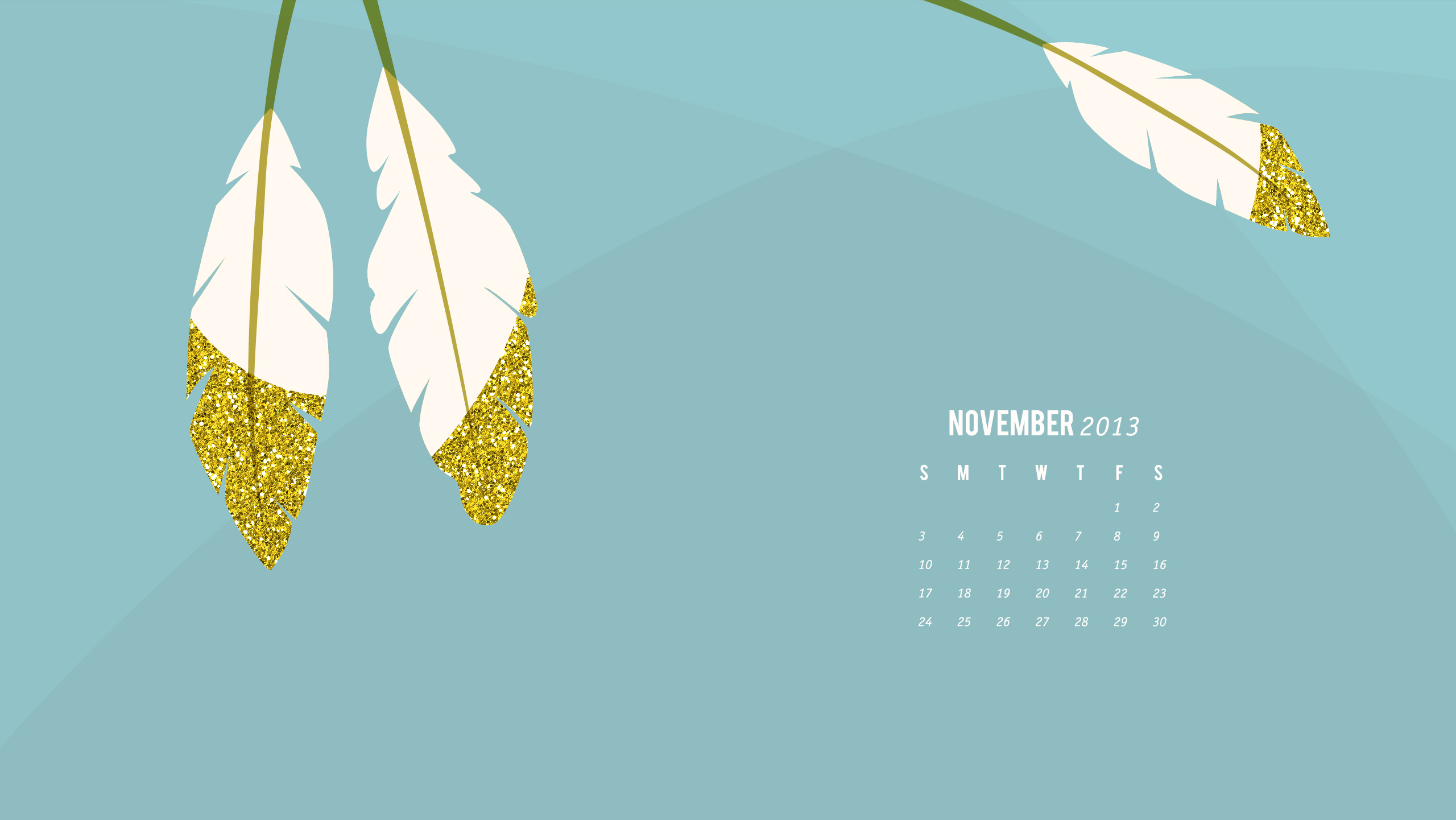 November 2013 Calendar Wallpaper - Sarah Hearts