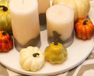 DIY Dipped Candle Fall Centerpiece