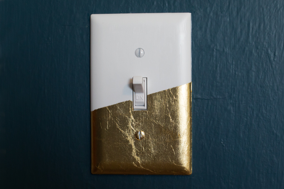 diy gold leaf light switch cover sarah hearts
