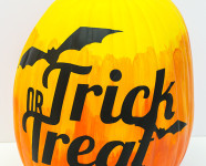 DIY Trick or Treat Ombre Pumpkin