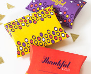 Printable Thanksgiving Pillow Boxes