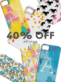 Use the code HEARTSCYBERMONDAY to get 40% off all iPhone Cases