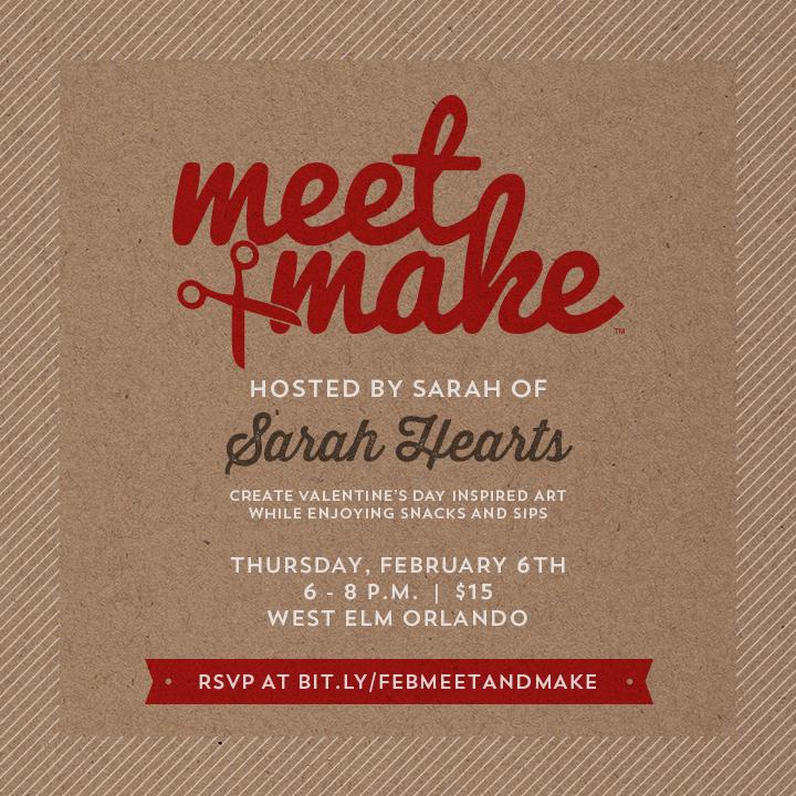 meet + make valentine's day workshop - sarah hearts, Ideas