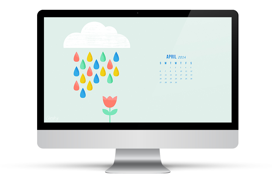 Dress up your phone, tablet and computer for spring with this free calendar wallpaper!
