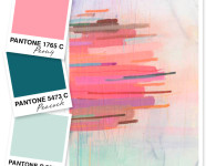 Pink, Teal and Seafoam Color Palette